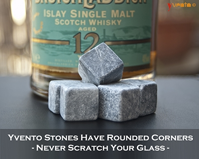 Yvento Whiskey Stones In A Tumbler - Click for More Images