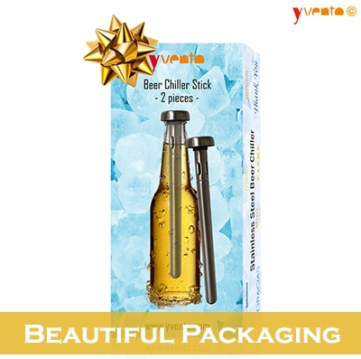 Yvento Beer Chiller Sticks Pack of 2 - Beautiful Packaging